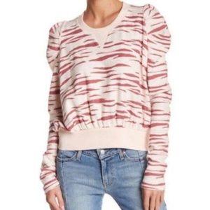 🎉LIKE NEW🎉Free People Zara Zebra Sweatshirt